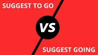 Suggest to go vs. Suggest going