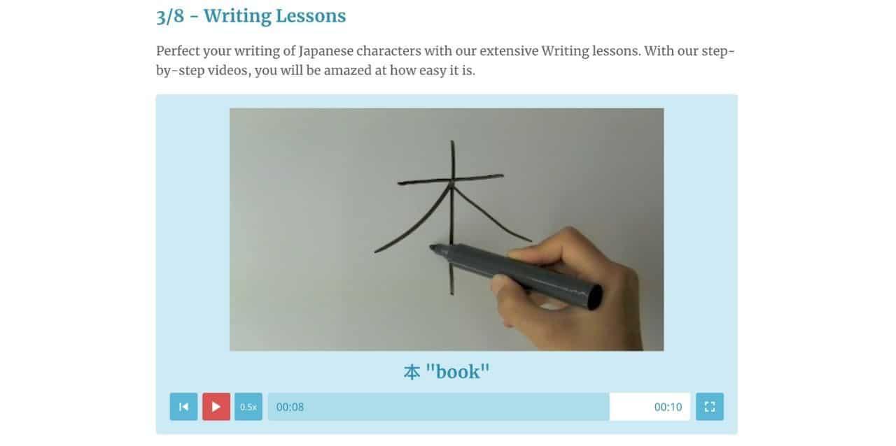Rocket Languages Writing Lessons