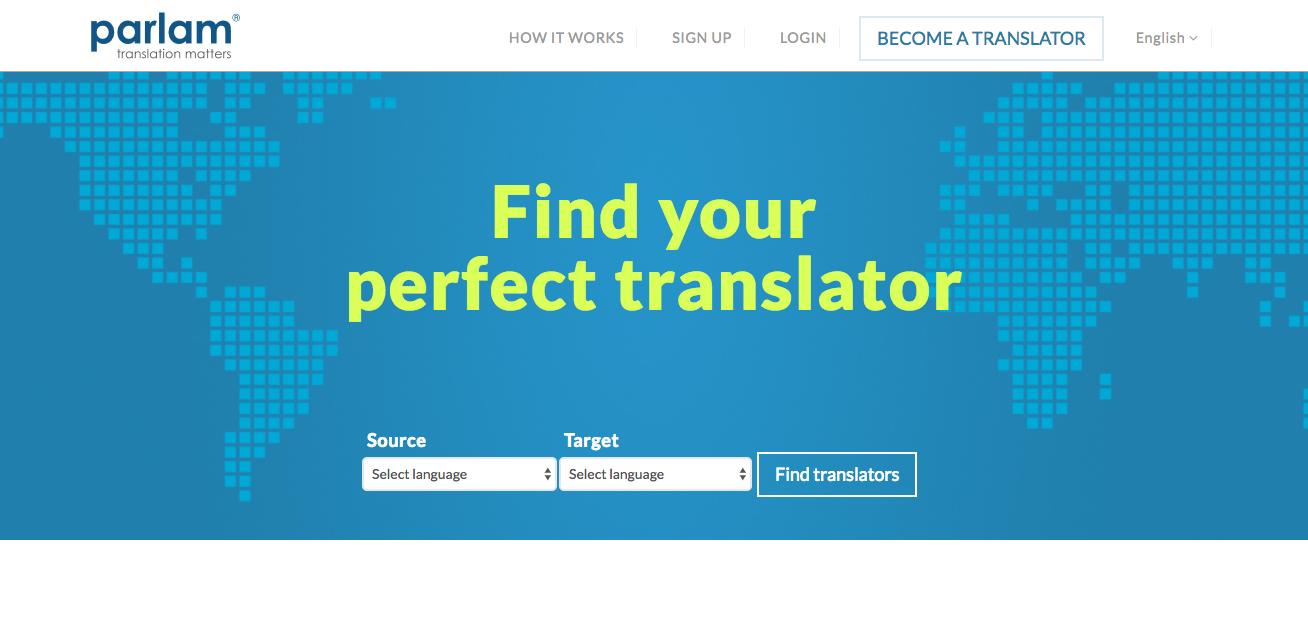 Parlam - online translation jobs   Promote your Website/App
